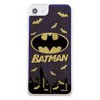 INGREM iPhone SE(第2世代) / 8 / 7 / 6s / 6 / 『バットマン』/ラメ グリッターケース/バットマンロゴ IJ-WP76LG1G/BM5