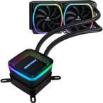 ENERMAX アドレッサブル型RGB LED水冷CPUクーラー AQUAFUSION 240mm ELC-AQF240-SQA