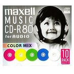 日立マクセル 音楽用CD-R(80分10枚入り) CDRA80MIX.S1P10S