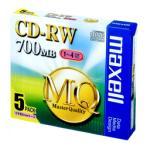 【お取り寄せ】日立マクセル CDRW80MQ.S1P5S(CD-RW / 700MB / 4倍速 / 5枚)