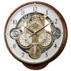 リズム時計 電波からくり時計 「スモールワールドシーカー」 4MN515RH23