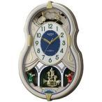 リズム時計 電波からくり時計 「スモールワールドカラーズ」 4MN543RH18