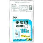 日本技研工業 手さげポリ袋乳白半透明10L 〔ゴミ袋〕