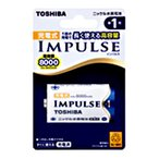 東芝 単1形ニッケル水素充電池 1本 「IMPULSE」TNH-1A