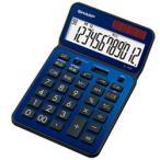 シャープ ナイスサイズタイプ電卓 「電卓50周年記念モデル」(12桁) EL-VN82AX(ディープブルー)