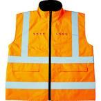 トラスコ中山 TRUSCO フリース付安全ベスト LED付 オレンジ