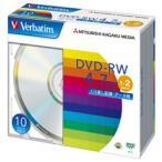 【お取り寄せ】三菱化学メディア Verbatim DHW47N10V1 (DVD-RW / 4.7GB / DATA / 2倍速 / 10枚)
