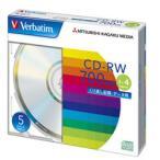 【お取り寄せ】三菱化学メディア Verbatim SW80QU5V1 (CD-RW / 700MB / DATA / 4倍速 / 5枚)