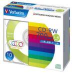 【お取り寄せ】三菱化学メディア Verbatim SW80QM10V1 (CD-RW / 700MB / DATA / 4倍速 / 10枚 / カラーミックス)