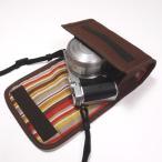 Nikon1 J5ケース-標準パワーズームレンズ用(ココア)--カラビナ付--suono(スオーノ)ハンドメイド