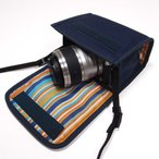 Nikon1 J5ケース-ダブルズームレンズ用(ネイビー)--suono(スオーノ)ハンドメイド
