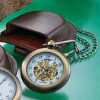 高級革製ベルトケース付き▼懐中時計アンティーク