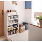 薄型キッチン収納 ラック 幅59cm コンパクト 大容量 キッチン用品 キッチン 収納 薄型 文庫本 本棚 木製 白 ホワイト 家具通販