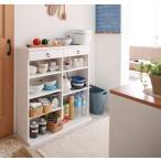 薄型キッチン収納 ラック 幅89cm コンパクト 大容量 キッチン用品 キッチン 収納 薄型 文庫本 本棚 木製 白 ホワイト 家具通販