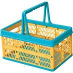 収納ボックス プラスチック フォールディングボックス 折りたたみ 折り畳み 取っ手付き スタッキング ランドリーボックス 洗濯かご