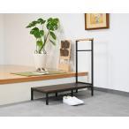 安心らくらく玄関台90cm 踏み台 手すり付き ステップ台 昇降補助 踏台 丈夫 スティール 介護 子供 玄関収納 おしゃれ