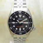 【送料無料】SEIKO [SKX013K2]逆輸入セイコー 自動巻き ダイバー ブラック ボーイズサイズ 日本製 MADE IN JAPAN メンズ腕時計/ブラック