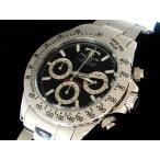 【送料無料】TECHNOS[TGM615]テクノス  クロノグラフ メンズ腕時計/ブラック×シルバー・ブラック×ゴールド
