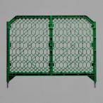 ディックフェンス グリーン 本体 脚パイプ付 工事現場 イベント会場 区画用品 1214×1500mm ユニット 958-02