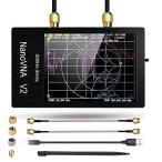 3Gベクトルネットワークアナライザー、2.8インチNanoVNA V2 50KHz?3GHz大型タッチスクリーンアンテナアナライザーS-A-A-2短波
