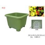 ショッピングプランター 野菜 プランター 菜園 プランター 30L 380角型 14個セット 38.5×38.5×28.5H(cm) 深型 鉢 グリーン アイカ aika 法人のみ配送 送料無料