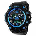 Yahoo!ヤフスカカシオ 腕時計 ブランドTONSHEN Military S-Shock Digital LED Light Dual Time Tactical Sports Wrist Watches,Blue 正規輸入品