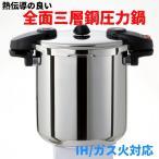 ショッピング圧力鍋 IH対応圧力鍋 圧力鍋 ワンダーシェフ ミドルサイズ両手圧力鍋 10L