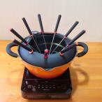 オイルフォンデュもできる 天ぷら串揚げ鍋+IH調理器セット(フォンデュ鍋・オイルフォンデュ・天ぷら鍋・IH卓上調理器)