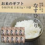 お米 1kg(1kg×10個) 贈答用 栃木県産 白米 一等米 なすひかり 令和2年産 送料無料