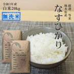 米 20kg 送料無料 無洗米 なすひかり 10kg×2 令和元年産 特A 特a 栃木県産 白米 一等米 精米 14時までのご注文で当日出荷 お米 20キロ