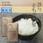 【新米 2020】米 令和2年産 20kg 送料無料 無洗米 とちぎの星 10kg×2袋 栃木県 日光産 白米 一等米 14時までのご注文で当日出荷 お米 20キロ