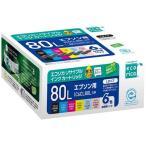 エコリカ ECI-E80L-6P IC6CL80L互換 リサイクルインクカートリッジ 6色パック