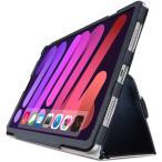 エレコム TB-A21SPLFBK iPad mini 第6世代 フラップケース ソフトレザー 2アングル 軽量 ブラック