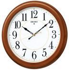 セイコー KX388B 掛け時計 電波クロック 木枠(茶木地塗装)