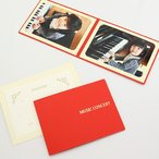 写真台紙 ペーパーフォトフレーム ピアノ バイオリン 音楽発表会 2Lサイズ 2面ヨコ MUSIC CONCERT レッド