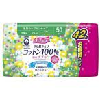 (まとめ)大王製紙 ナチュラ さら肌さらりコットン100%吸水ナプキン中量用 42枚(大容量) 〔×3点セット〕