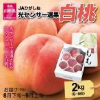 もも 桃 9月上旬頃から発送 JAさくらんぼひがしね「山形の白桃」 秀品2kg(6〜9個) 品種おまかせ 送料込