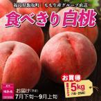 もも 桃 7月下旬頃から発送 福島県飯坂町 木村さんたちの「食べきり白桃」 秀品5kg(18〜25個) 品種おまかせ 送料込