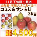 りんご 洋梨 セット 山形県産「コミス&サンふじ」 計3kg