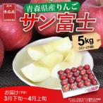 りんご サンふじ 3月上旬頃から発送・青森県産 JAつがるにしきた「サンふじ」 赤秀 5kg(16〜20個) 送料込