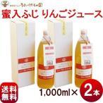 ジュース ギフト 100% うまいくだもの園 蜜入ふじ りんごジュース ストレート果汁100%ジュース 1,000ml×2箱 送料込