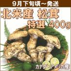まつたけ 松茸 9月下旬頃から発送・北米産松茸 特選400g(4〜12本) 徳島県産すだち2個付