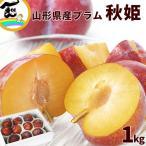 プラム 9月上旬頃から発送・山形県産プラム「秋姫」 1kg(8〜10個) 送料込
