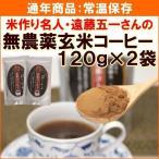 ノンカフェイン 玄米コーヒー 遠藤五一さんの無農薬玄米コーヒー 120g×2袋 送料込