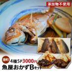 お惣菜 魚屋おかずBセット 4種5P 3000円 送料無料 木川屋本店 山形  さんまの佃煮 さばの水煮
