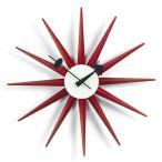 置時計 Vitraヴィトラ Sunburst Clock サンバースト クロック/レッド