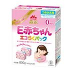 森永乳業 E赤ちゃん エコらくパック つめかえ用 0ヵ月から (粉ミルク) 400g×2袋
