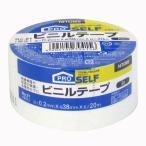 ニトムズ ビニルテープ(ビニールテープ) No.21 幅広 白 厚さ0.2mm×幅38mm×長さ20m J3415