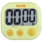 タニタ デジタルタイマー でか見えタイマー イエロー TD-384-YL