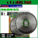 アイウッド 刈払機用チップソー Mr.楽刈 255X40P 10枚セット